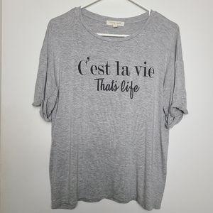 """C'est la vie That's Life""  Tee by Living Doll"